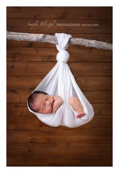 Heavenly newborn baby photography prop hanging stork sling photo prop