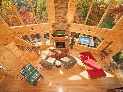 Chalet Du0027Amour Is A Luxury 2 Bedroom Cabin In Gatlinburg, TN Featuring An  18 Foot Rain Shower.