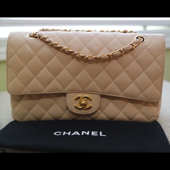 64c03f2ce527 AUTHENTIC Chanel 2.55 Classic Flap-gold hardware Beautiful Chanel beige  caviar leather. Excellent condition ⭐️NO TRADES⭐ CHANEL Bags Shoulder Bags