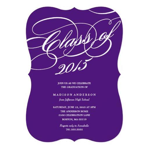 classy in purple graduation invitation 2018 graduation