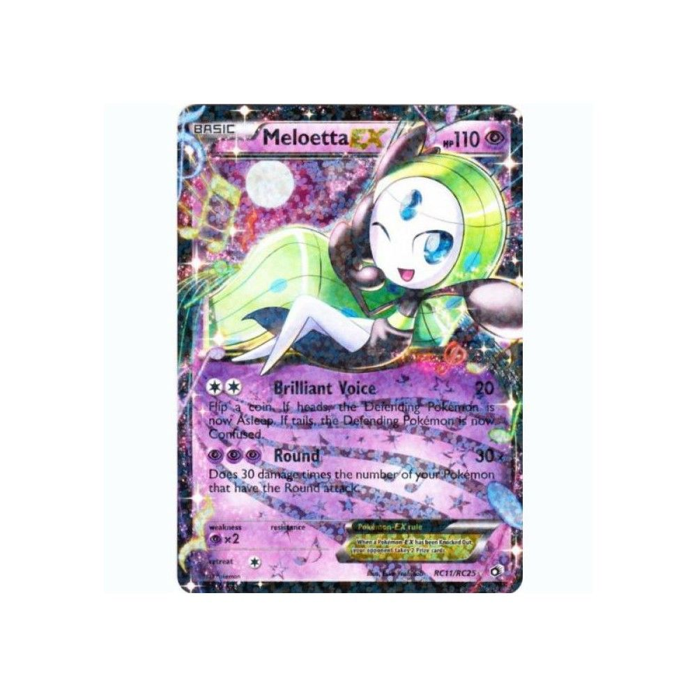 Pokemon! EN Near Mint Meloetta EX Legendary Treasures RC11//RC25 Holo Rare EX