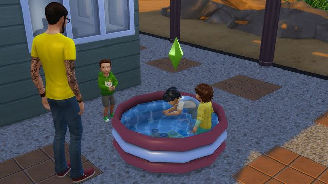 Sims 4 CC's - The Best: Functional Toddler pool by
