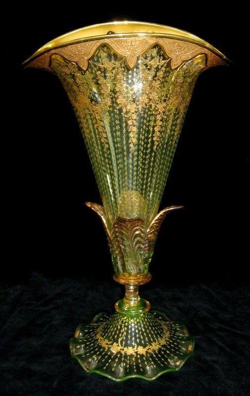 Antique Moser Bohemian Glass Vase Ebay 700 Art Glass Pinterest