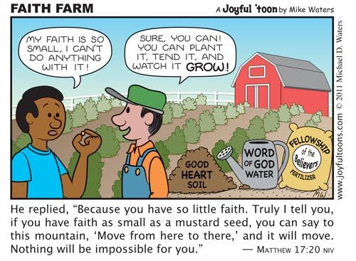 A True Reality.faith As Small As A Mustard Grain Can Move Mountains
