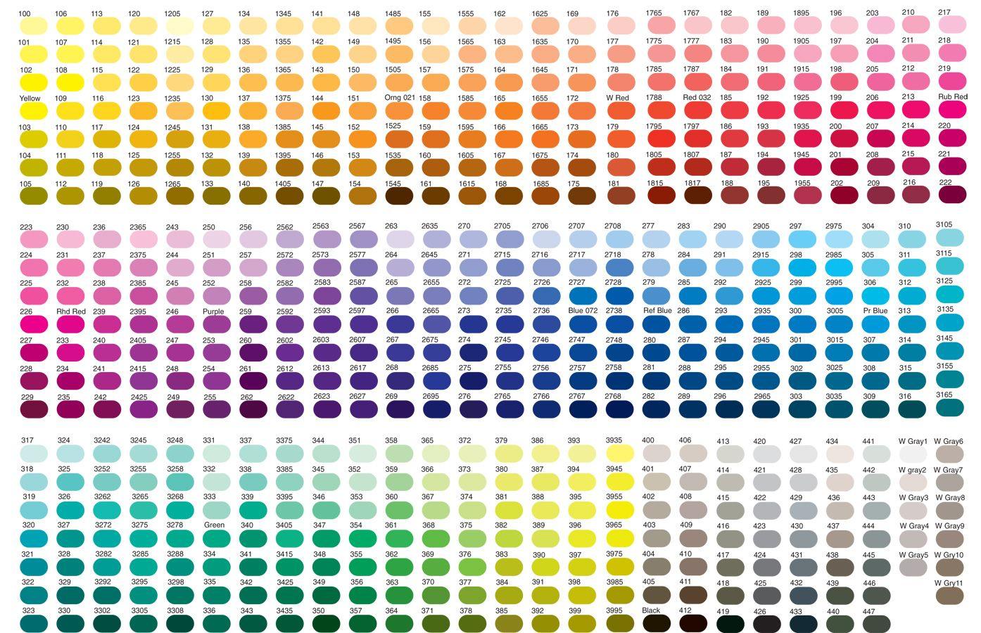 Pantone Colour Chart  Great Design    Pantone Chart