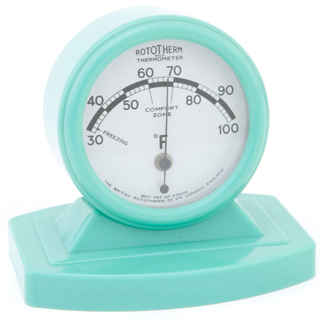 1940s Rototherm Green Bakelite Desk Thermometer