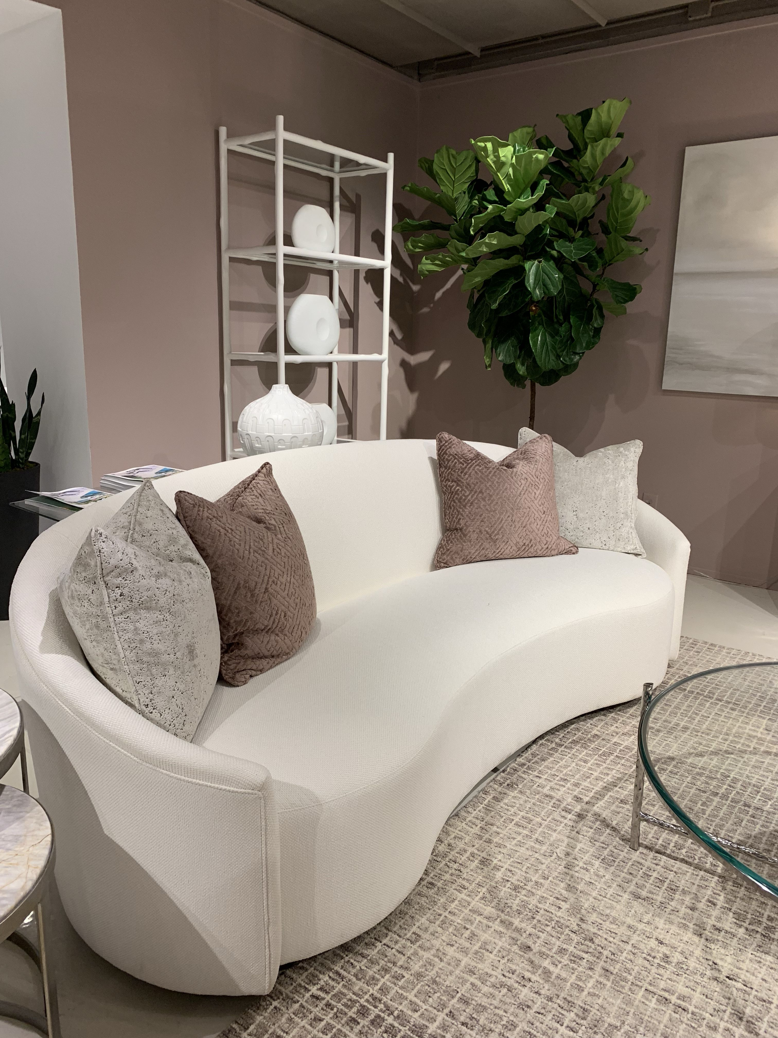 The Lumen Sofa By Bernhardt Interiors Is A Classic Study In Nostalgia Made Modern Its Soft Kidney Shaped Symmetry Is Highli Interior Design Furniture Interior