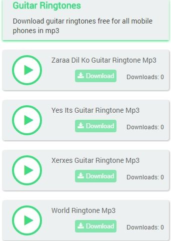 Download Guitar Ringtones Free For All Mobile Phones In Mp3 All Mobile Phones Messages