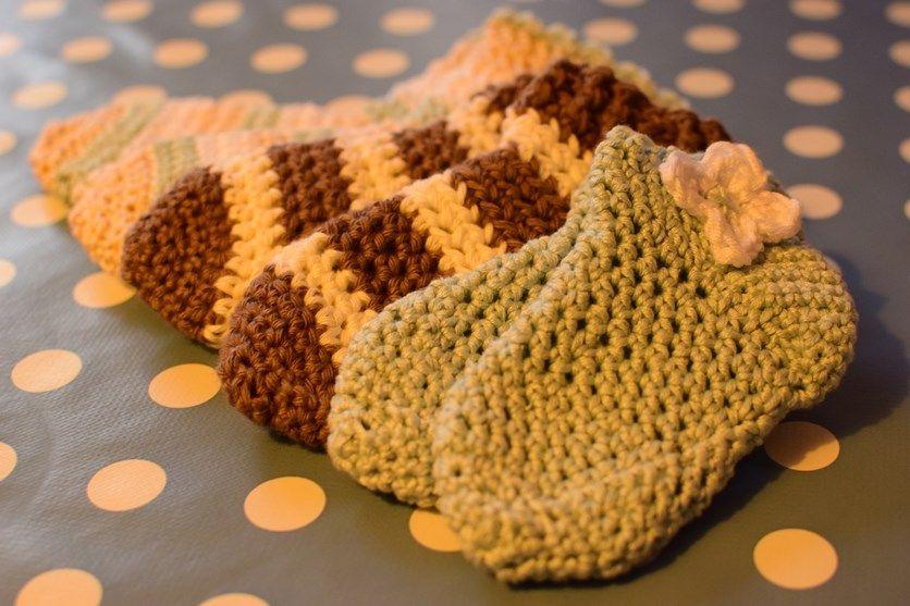 Socken häkeln nach der 4 Stufen-Methode