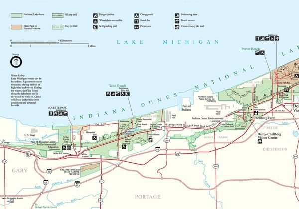 Indiana Dunes Park Map Maps Local Pinterest: Indiana Dunes State Park Map At Codeve.org