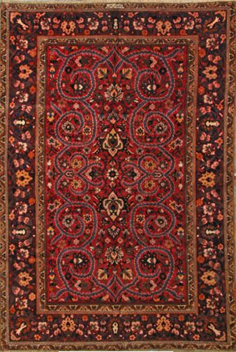 Bakhtiari Persian Rug X Authentic Handmade Antique Years Old