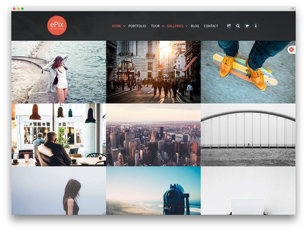 epix - masonry style portfolio theme   portfolio   Pinterest ...