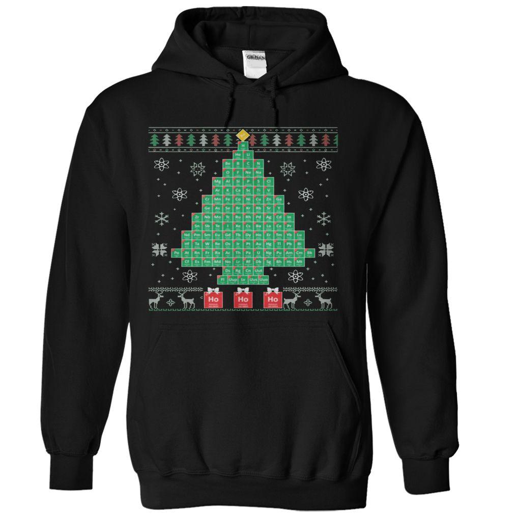 Chemis-Tree Ugly Christmas Sweater-style Printed Tee   CHRISTMAS T ...