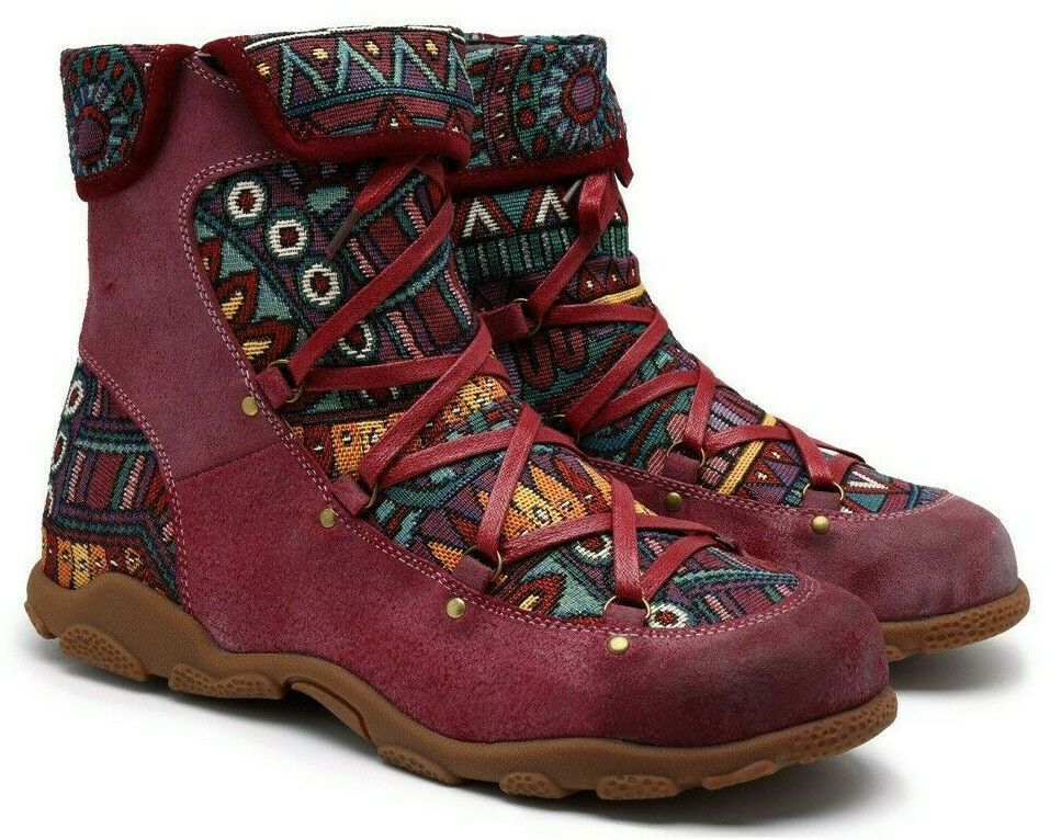 e77bc2fd96f74 ILIYAH Women's Hand-rubbed Color Leather/Jacquard Splicing Zippered ...