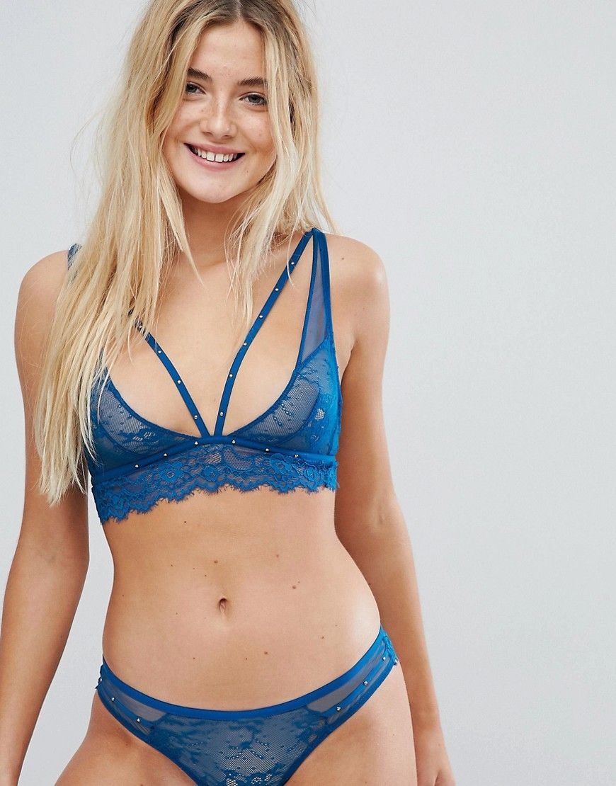 a5f97451e7f193 New Look Lace Studded Longline Bralette in 2019
