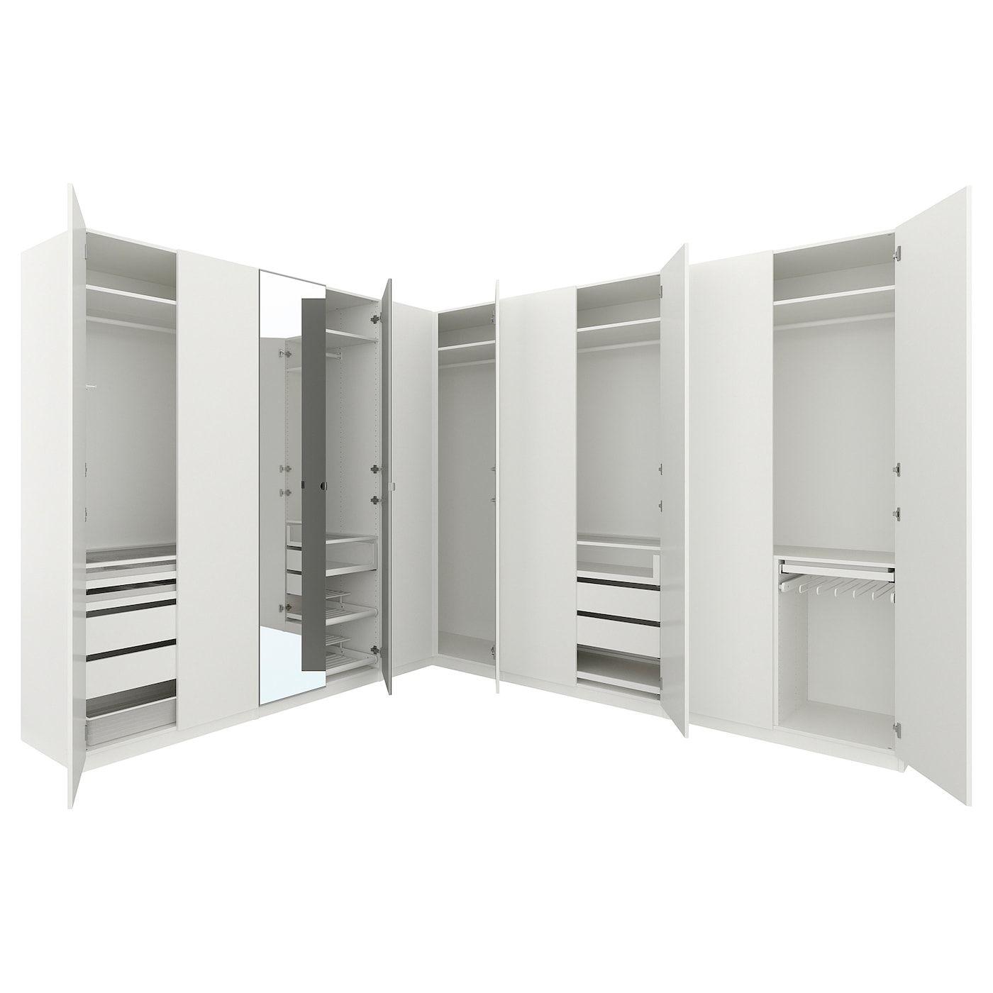Pax Corner Wardrobe White Forsand Vikedal 122 122x93 1 8 310