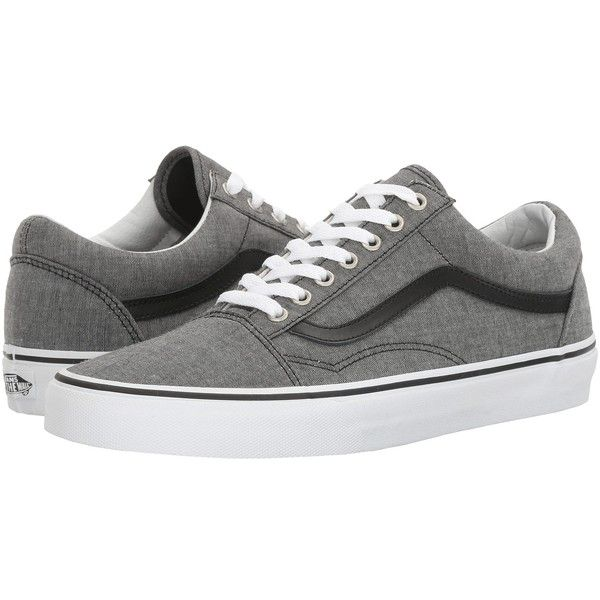 4bedf08ad7 Vans Old Skool ((C L) Chambray Black) Skate Shoes (£50) ❤ liked on Polyvore  featuring shoes