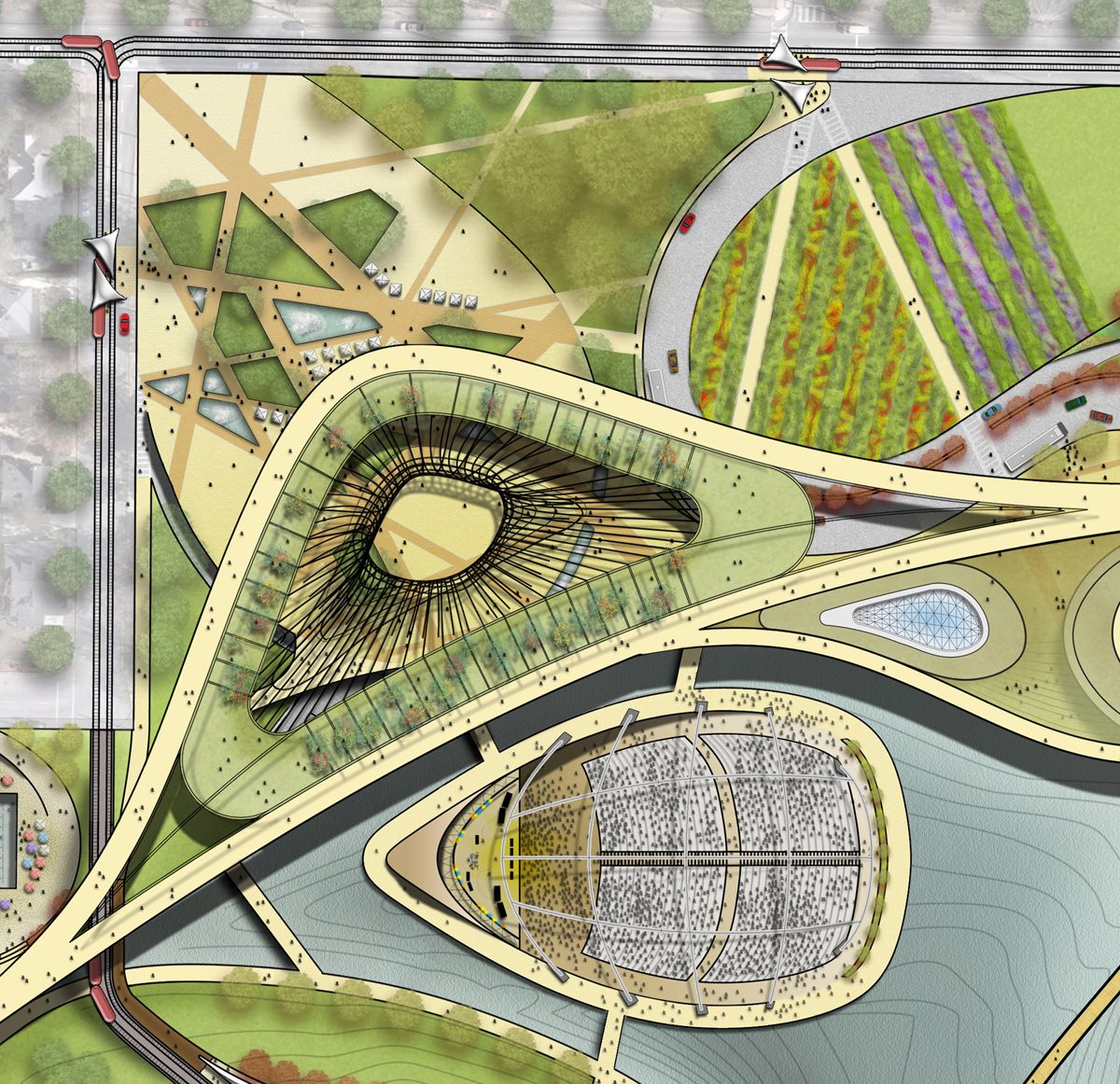 Bellwether Landscape Architects In Atlanta Ga: Proposed Main Park Entrance With Children's Museum And