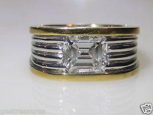 VINTAGE CARTIER 18KT YELLOW WHITE GOLD DIAMOND WEDDING BAND RING GIA CERTIFIED