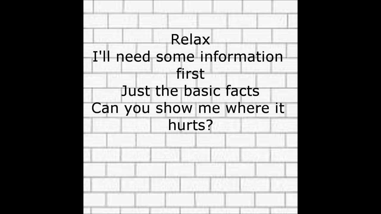 Pink Floyd Comfortably Numb With Lyrics Pink Floyd Comfortably Numb Pink Floyd Lyrics Pink Floyd