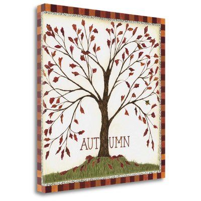 "Tangletown Fine Art 'Autumn' Textual Art on Canvas Size: 35"" H x 35"" W"