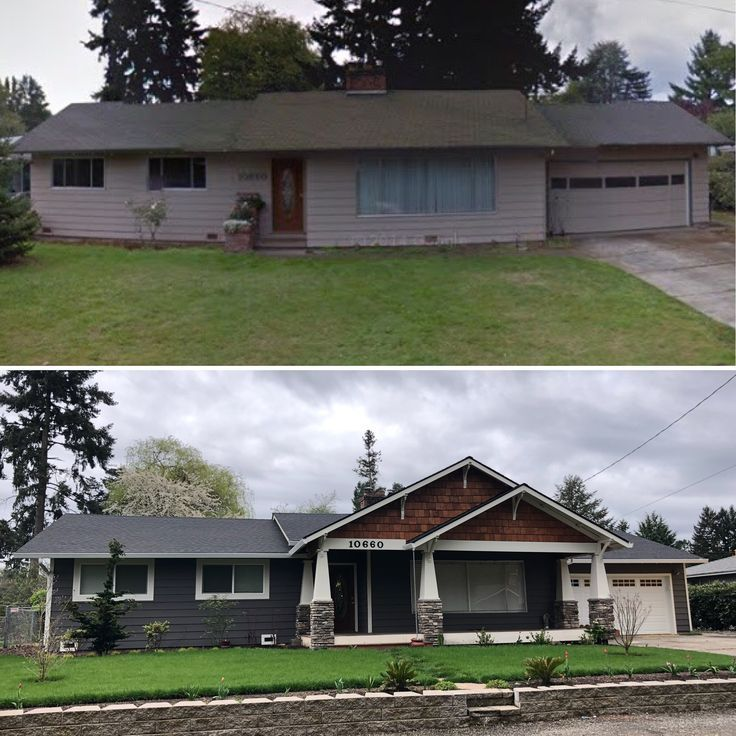 Ranch To Craftsman Remodel Complete House Ideas Ranch House Remodel Home Exterior Makeover Exterior House Remodel