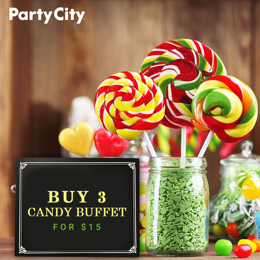 Buy 3 Candy Buffet For 15, Enjoy More Party City Coupon