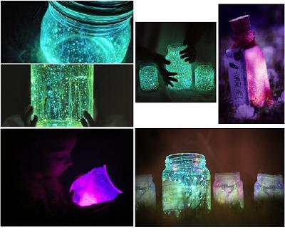 les alizés: diy lampe en bocal (si si je t'assures c'est chouette ... - Comment Faire De La Peinture Fluorescente