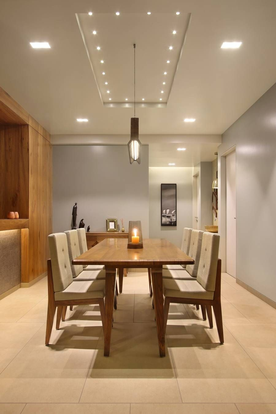 Antriksh Apartment - a+t associates | Dining room design ... on Dining Table Ceiling Design  id=85889