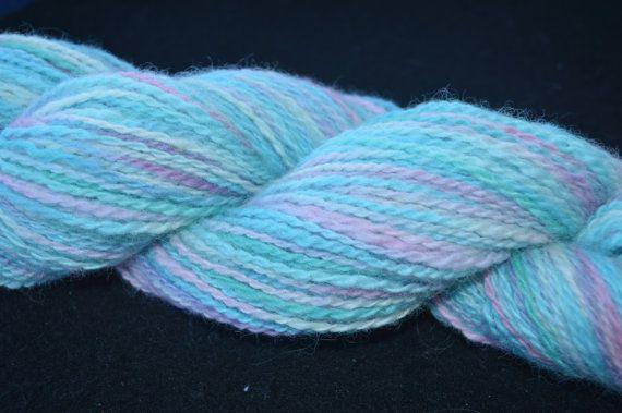 Handspun Hand Dyed Alpaca/Wool Blend Yarn by kiwifibers on Etsy
