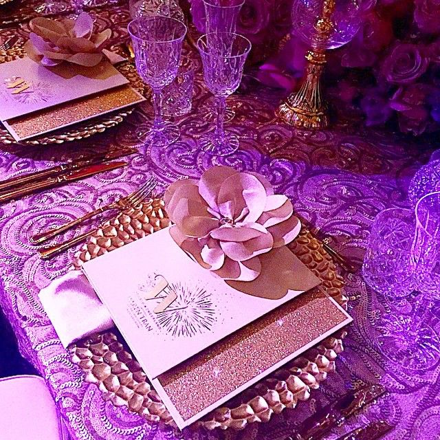 The #karentranfireworks place setting. Gorgeous menus from @nataliebydesign with new table linens and hire from the fabulous @eventsbynadia #ktsydney #karentran