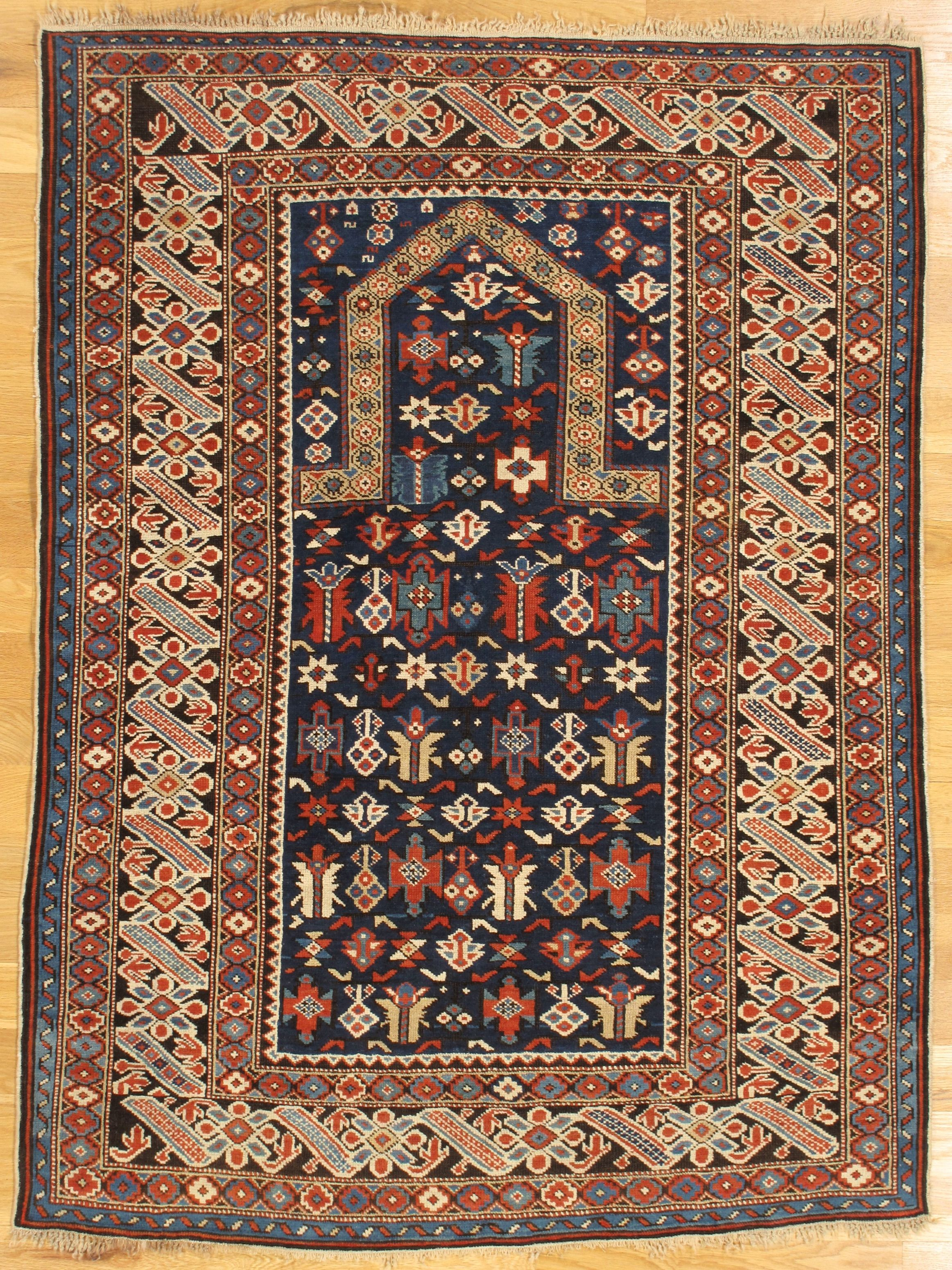Chi Chi Prayer Rug From Kuba District Eastern Caucasus West Coast Of The Caspian Sea Age Circa 1875 Size 5 0 X3 8 152x112 In 2020 Rugs Persian Rug Rugs On Carpet