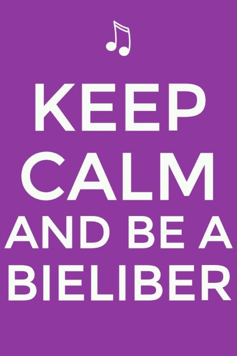Keep calm Belieber