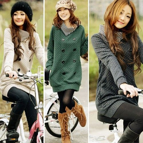Discount China china wholesale Womens Causal Long Sleeve Lapel Turtleneck Sweater Green Grey Beige [31267] - US$16.86 : DealsChic