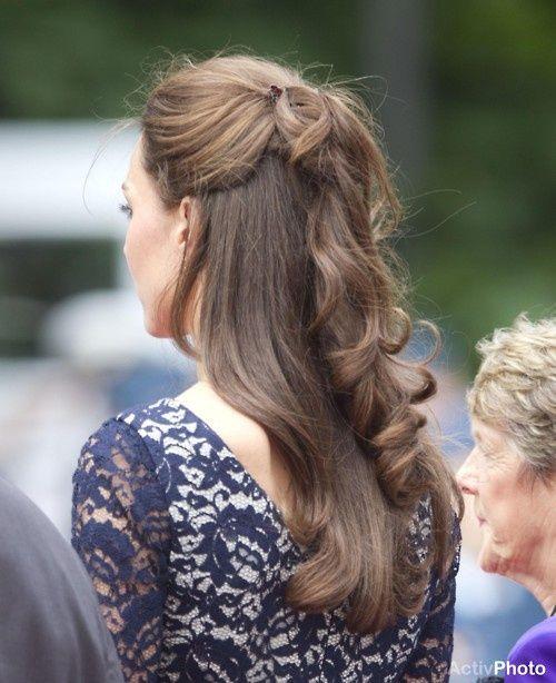 Hair Half Up Half Down Hair Goals Pinterest Kate Middleton