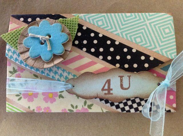 Crafting ideas from Sizzix UK: Washi Tape Gift Card Folder