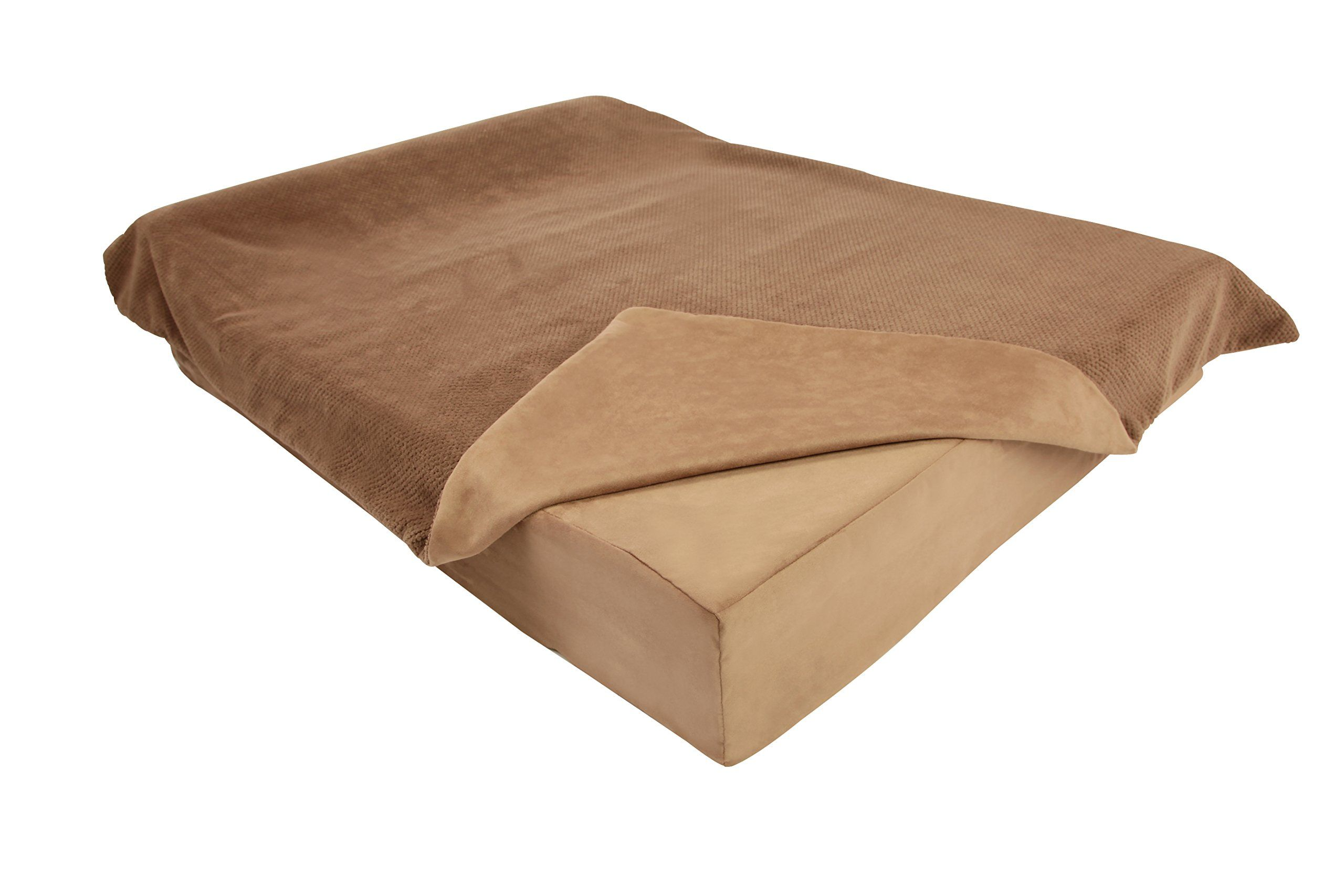 Big Blankie Large Khaki Soft Plush Reversible Dog Blanket
