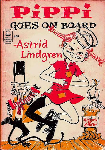 Pippi Longstocking - Pippi Goes on Board by Astrid Lindgren illustrations by Louis S. Glanzman Viking Press, 1970 softcover edition