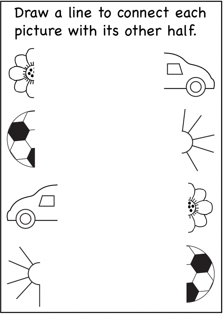 4 year old worksheets printable connect picture | 3 year ...