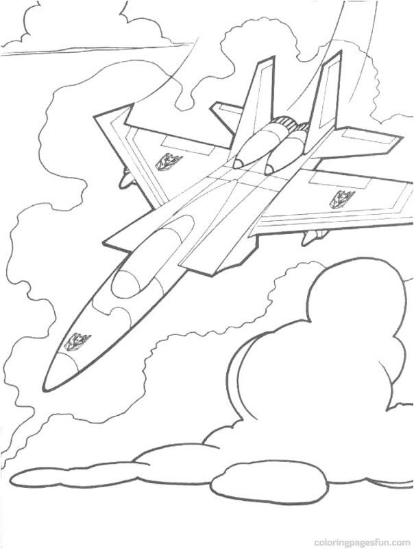 transformers starscream  coloring pages for kids