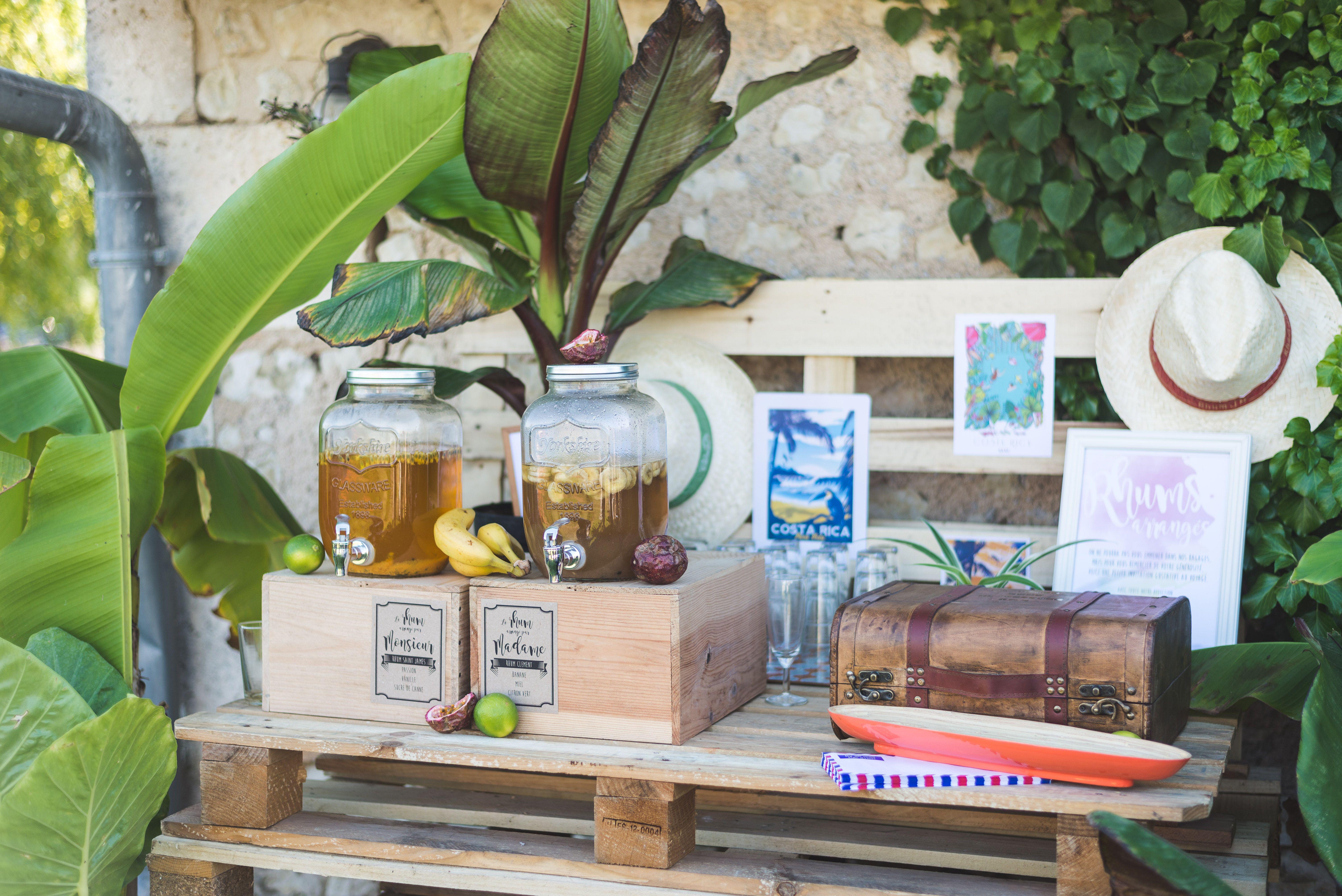 mariage th me tropical bar exotique rhum arrang cocktail signature d cor palette. Black Bedroom Furniture Sets. Home Design Ideas