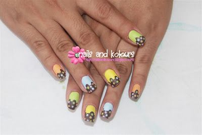Nails and Kolours: Nail Art: Chocolate Candy Ice Cream