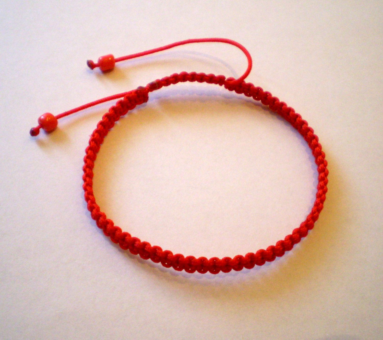 Red Bracelet String Kabbalah Buddhist Yoga Amulet Braided 3 50 Usd By