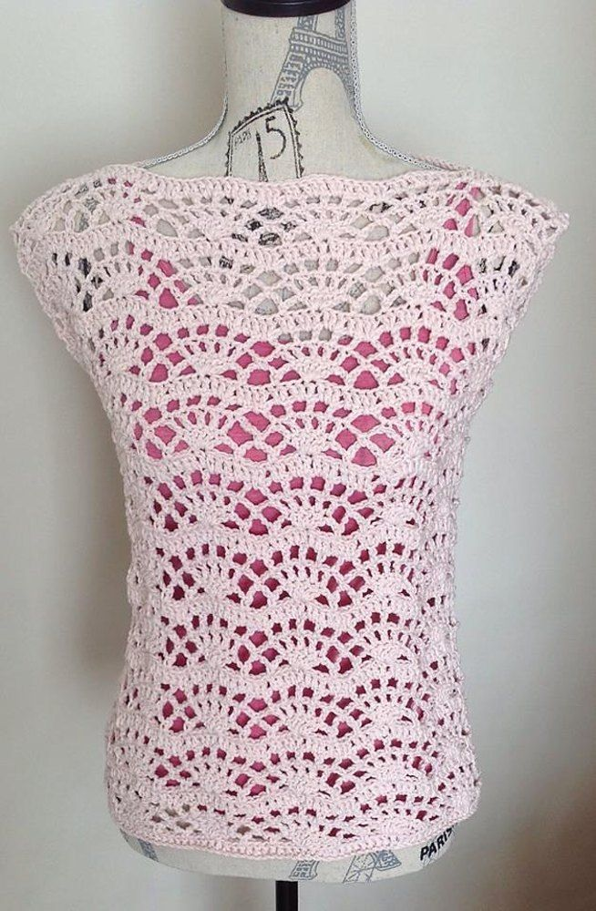 Lovely Summer Tank Top Crochet Pattern Easy And Fast To Make