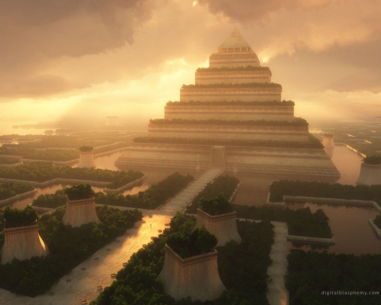 "Beautiful art! lestalker: "" Hanging Gardens of Babylon - Digital Art ..."