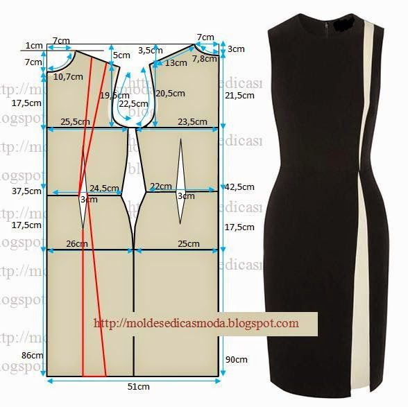 diy sheath dress diagramm n hen und kleidung n hen. Black Bedroom Furniture Sets. Home Design Ideas