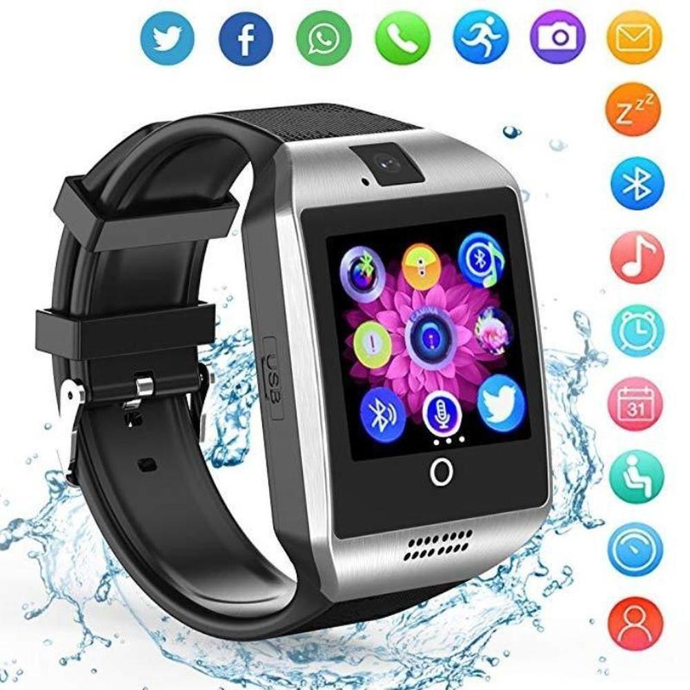 Bluetooth smartwatch men q18 t tf sim card camera for