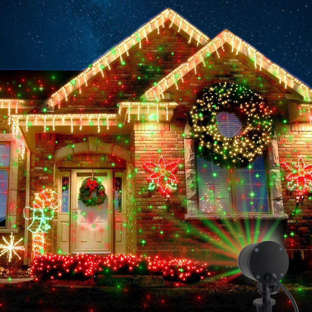 Halloween Decorations Starry Laser Lights Landscape