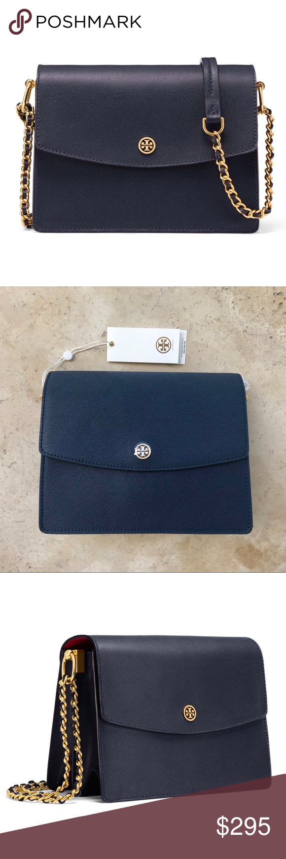 17f4d0809feb Tory Burch Parker Convertible Shoulder Bag Navy Authentic. Brand new with  tag and dust bag