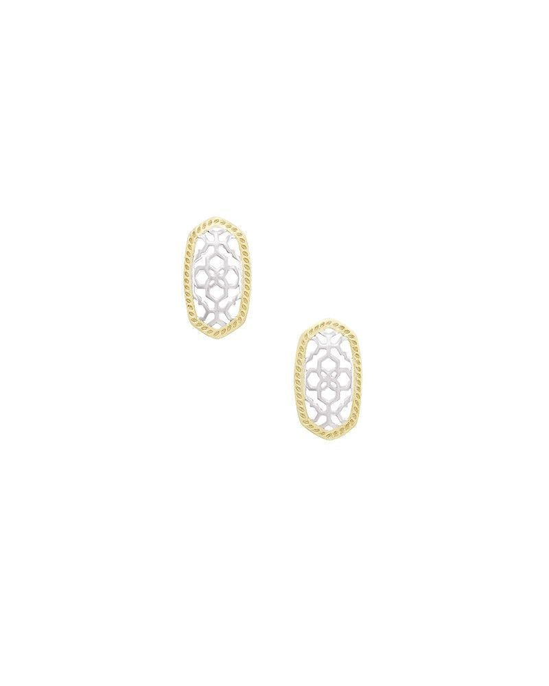 Details about  /Kendra Scott Ellie Filigree Stud Earrings In Rhodium Plated 1016